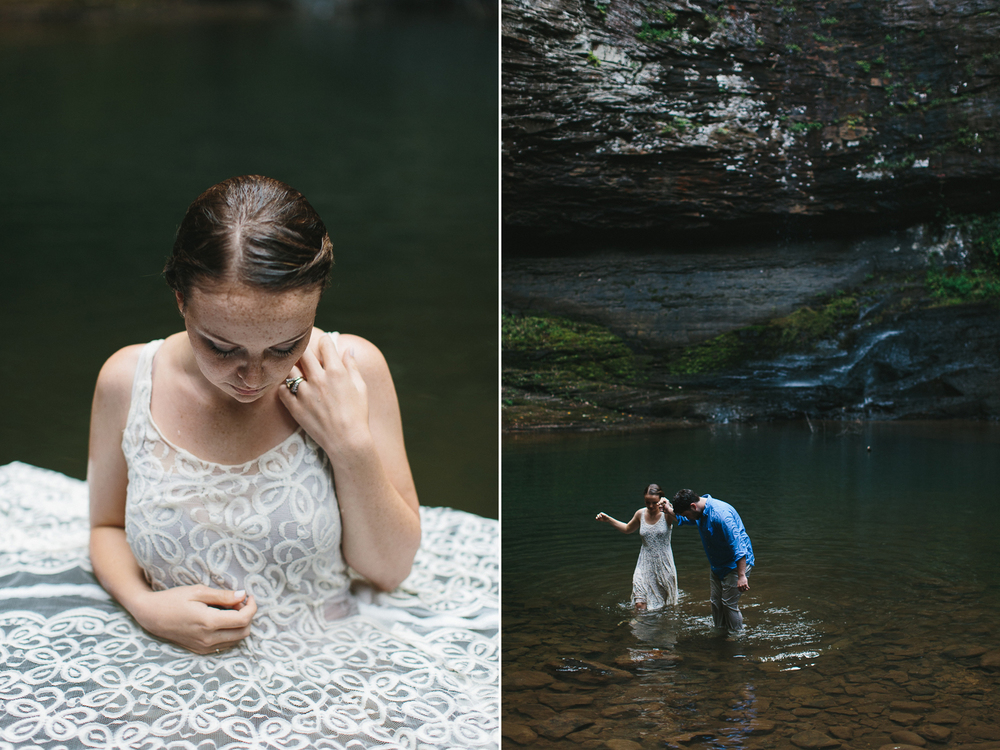 Wedding baptism in cloudland canyon