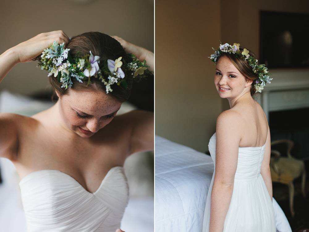 Bride with a floral crown