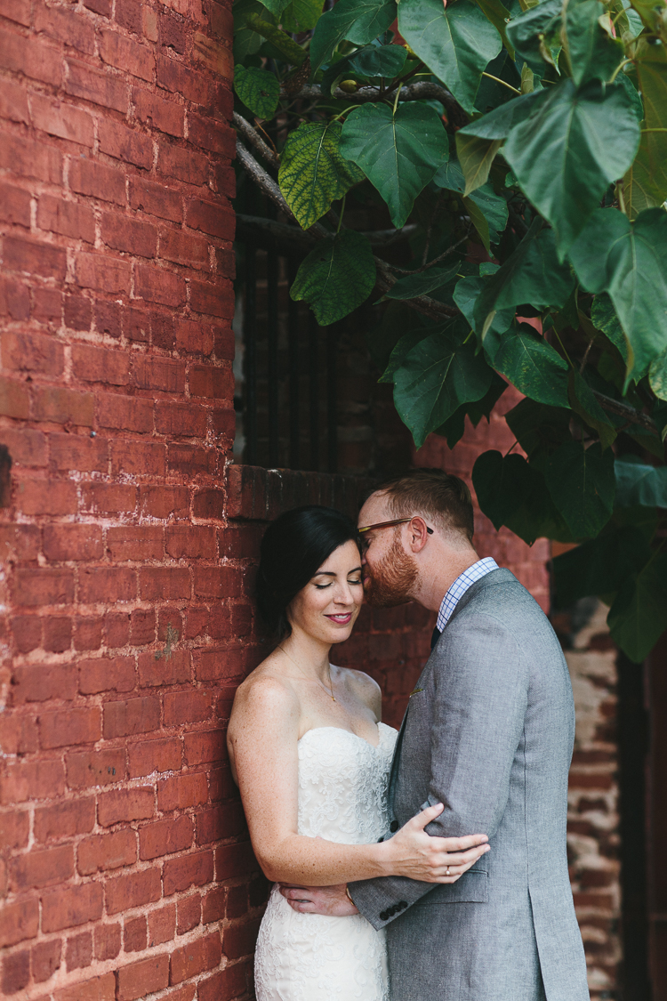 Outdoor bride and groom portraits