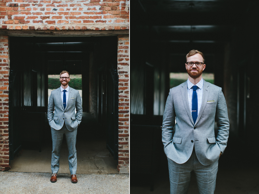 Urban groom portraits