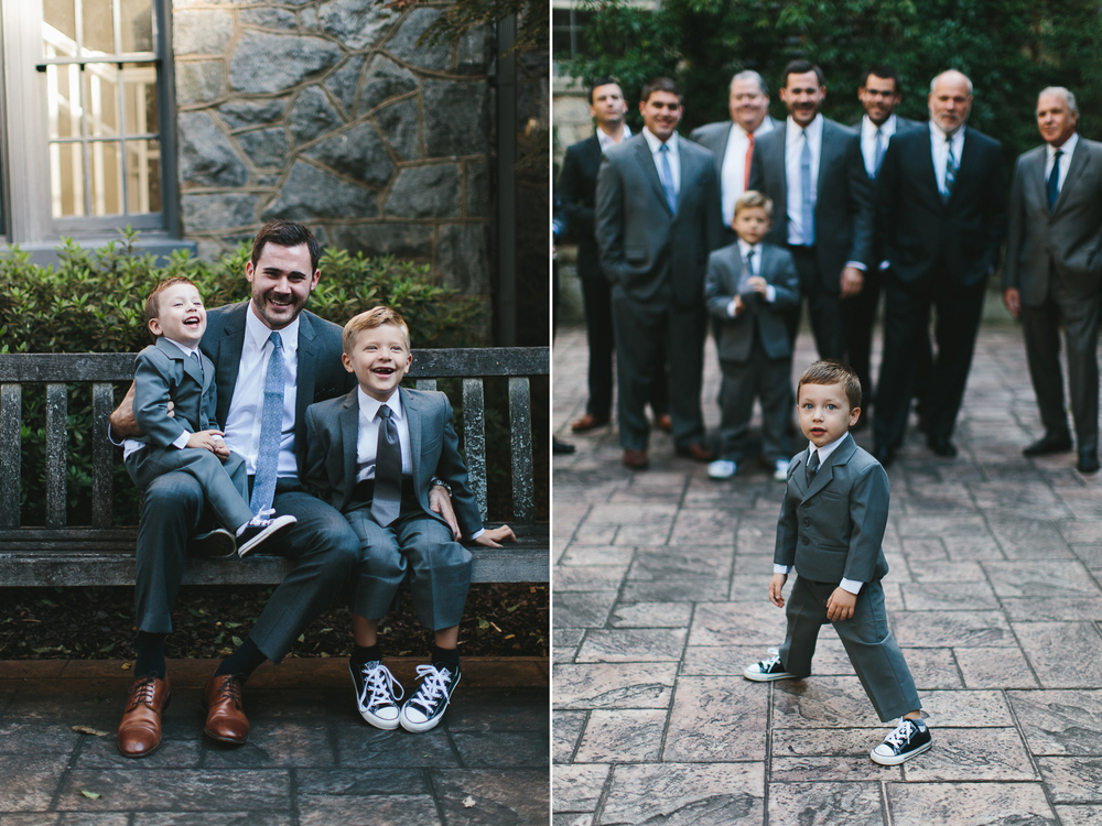 Cutest ring bearer in his suit