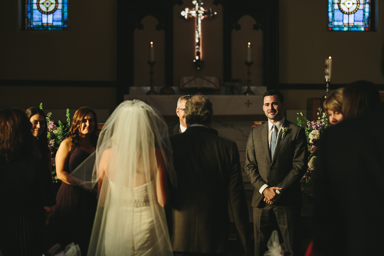 Groom's emotional first glance of his bride