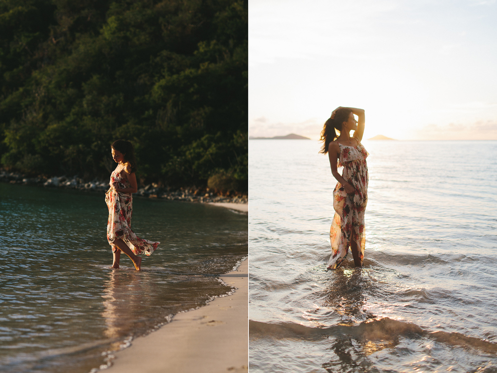 Bohemian Style Fashion Portraits on the Beach