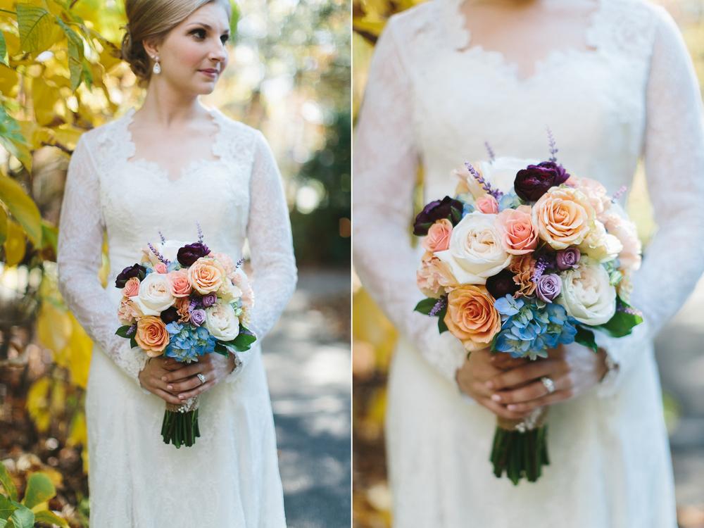 Colorful bride's bouquet