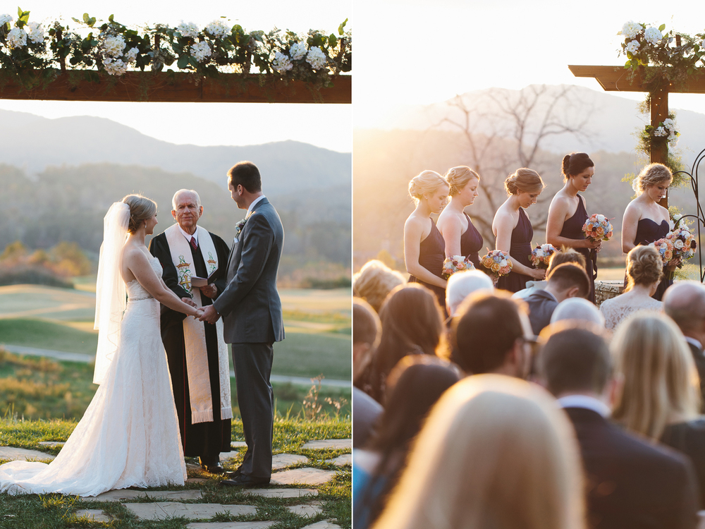 Stunning lighting at the wedding ceremony
