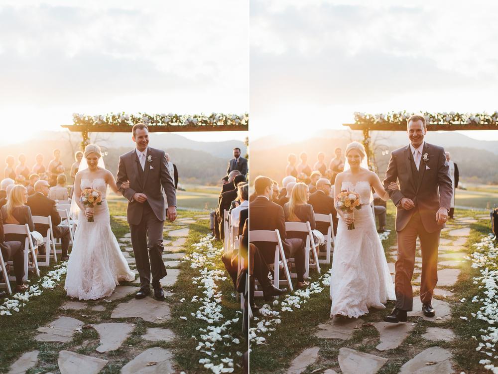 Stunning lighting at wedding ceremony
