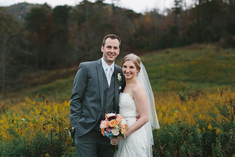 Beautiful fall wedding portraits