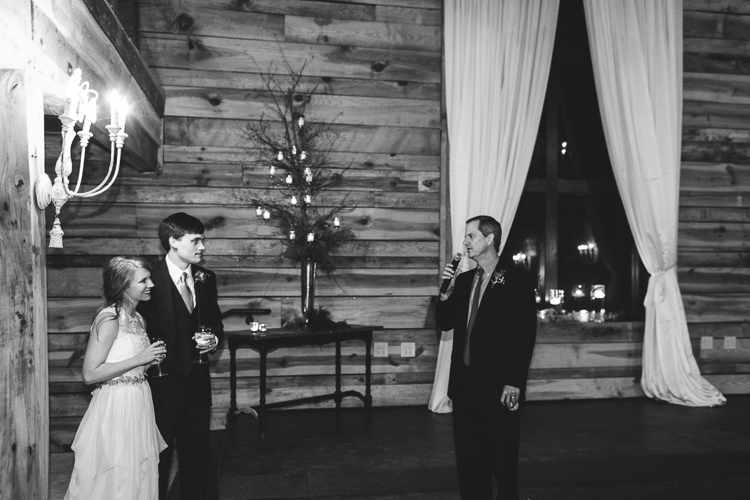 father of the bride gives his speech and reception