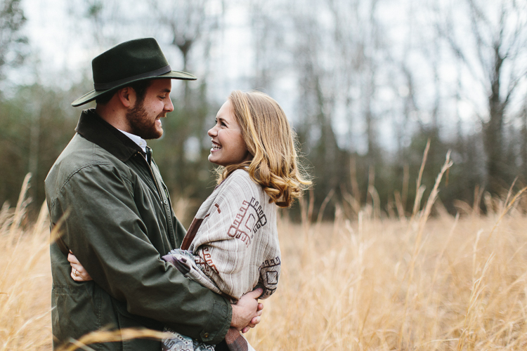 rustic folk engagement shoot