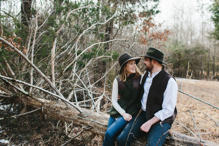 rustic folk engagement portraits