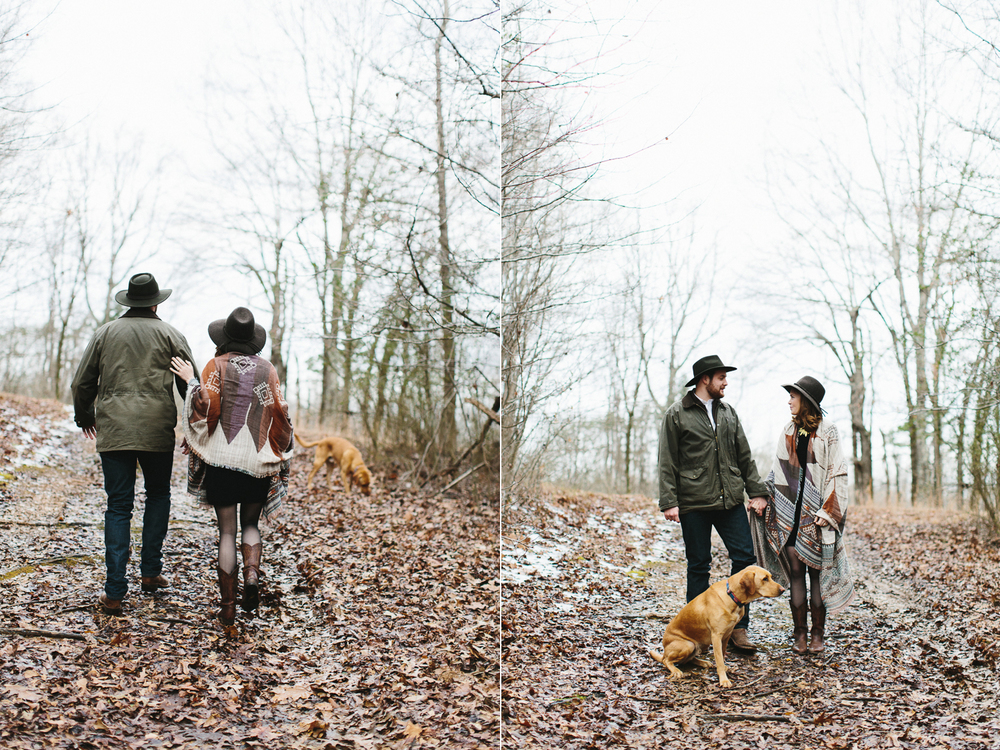 Kinfolk inspired engagement shoot