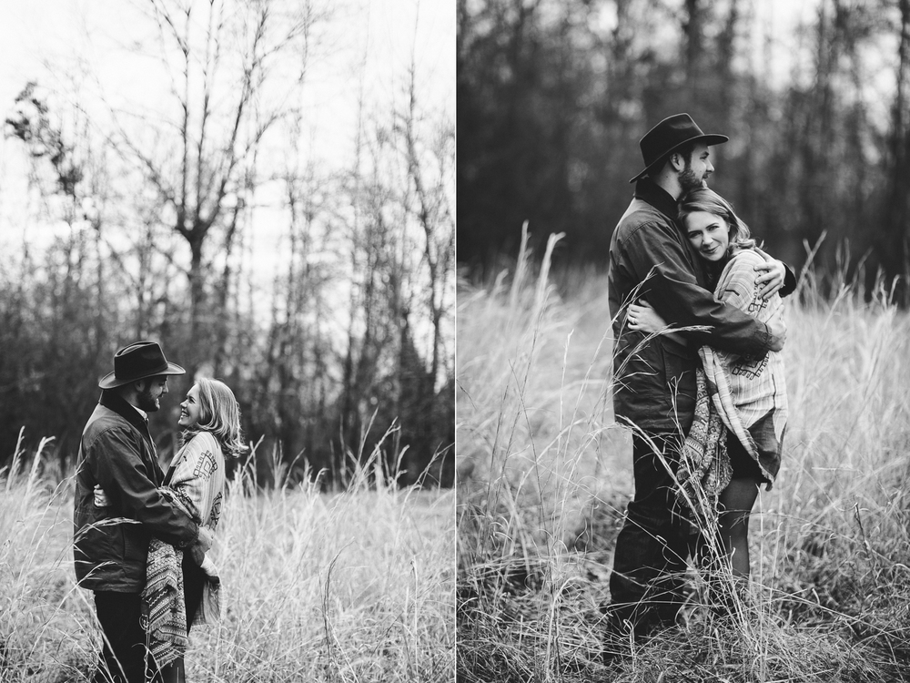rustic kinfolk inspired engagement portraits