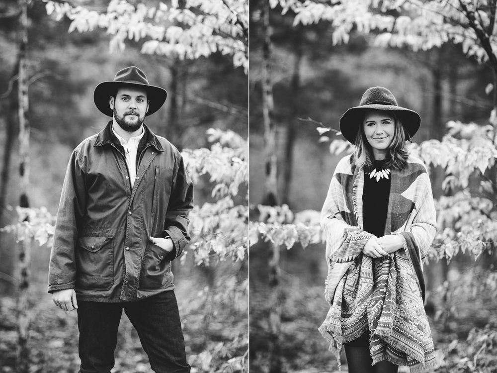 kinfolk inspired individual engagement portraits