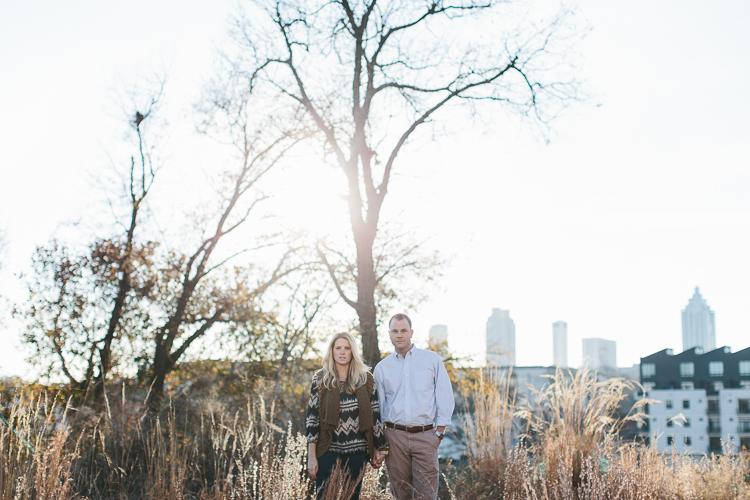 Fall Atlanta Downtown Engagement Shoot