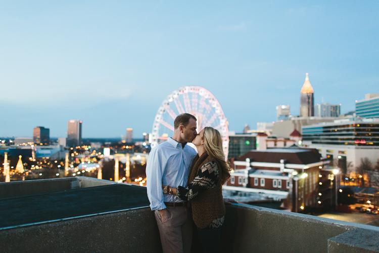 Skyview Atlanta Engagement Portraits