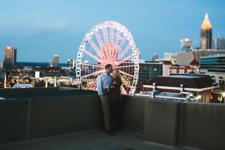 Skyview Ferris Wheel Atlanta Engagement Portraits