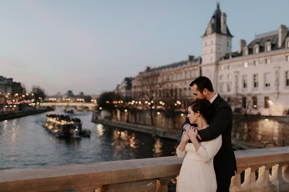 Sarah and Chris - INTIMATE PARIS WEDDINGCeremony: American Church in ParisDinner: VerjusDress: Bridal Couture by Ruby V.Shoes: Gianvito RossiGroom's Attire: Sid Mashburn