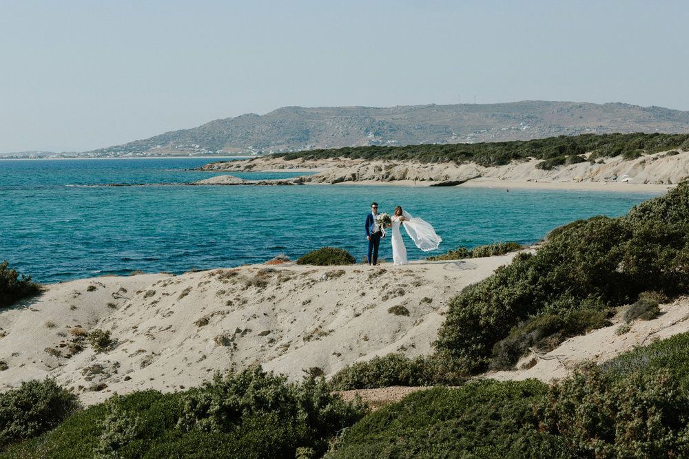 Gabby and Jeff - NAXOS ISLAND GREECE WEDDINGVenue: Banana BarDress: Grace Loves Lace
