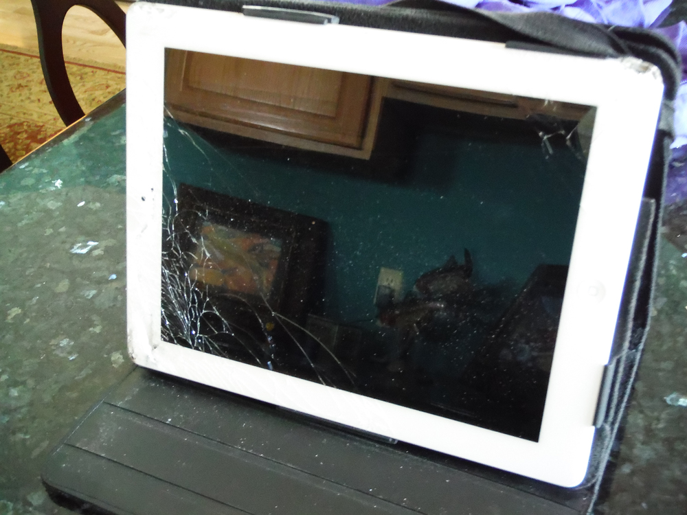 iPad of shame-still works although the swipe feature is a little rough !