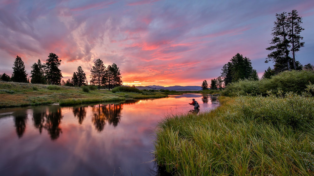 Sunrise Flyfishing Fireworks-Yellowstone National Park, Montana