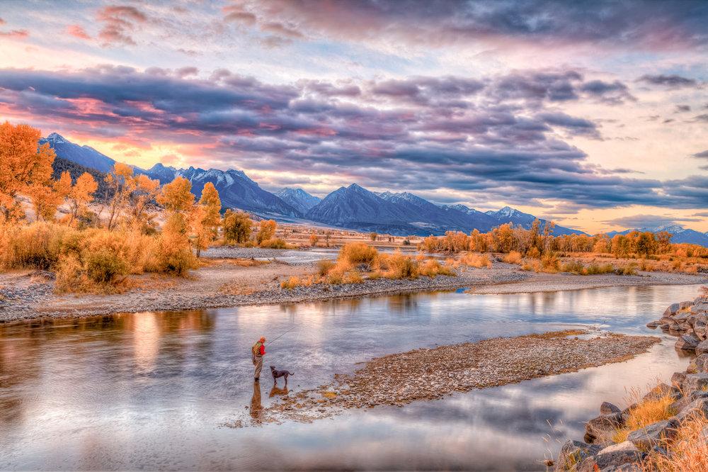 Yellowstone Angler and his Dog