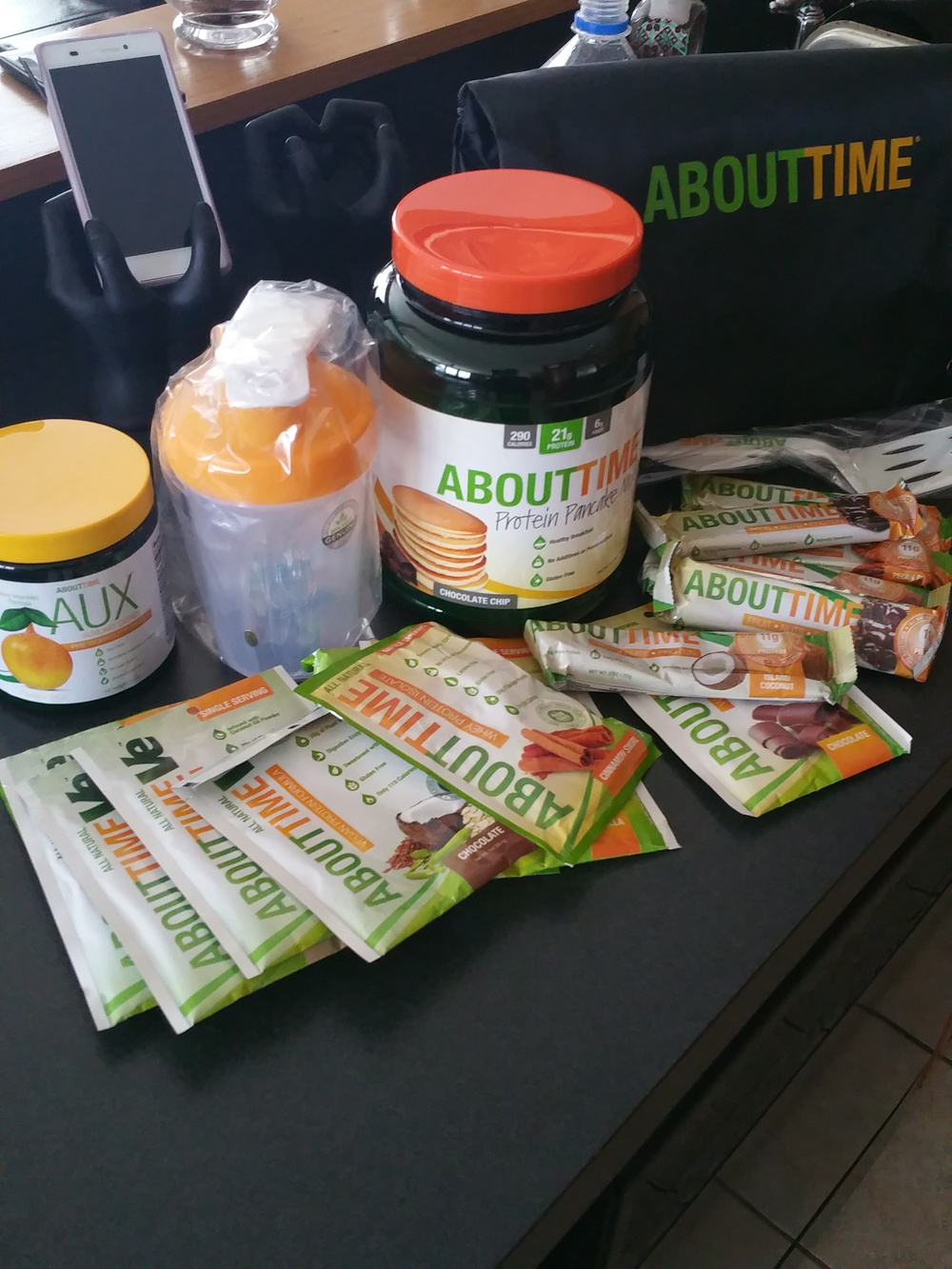 YUMMMMMYYY. New goodness from About Time Nutrition-- click on the picture to head to their store, use code FITFLUENTIAL for 25% OFF!!! PROTEIN PANCAKES OFF THE HOOK.