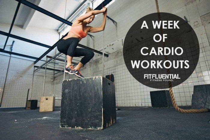 A Week of Cardio Workouts at FitFluential.com