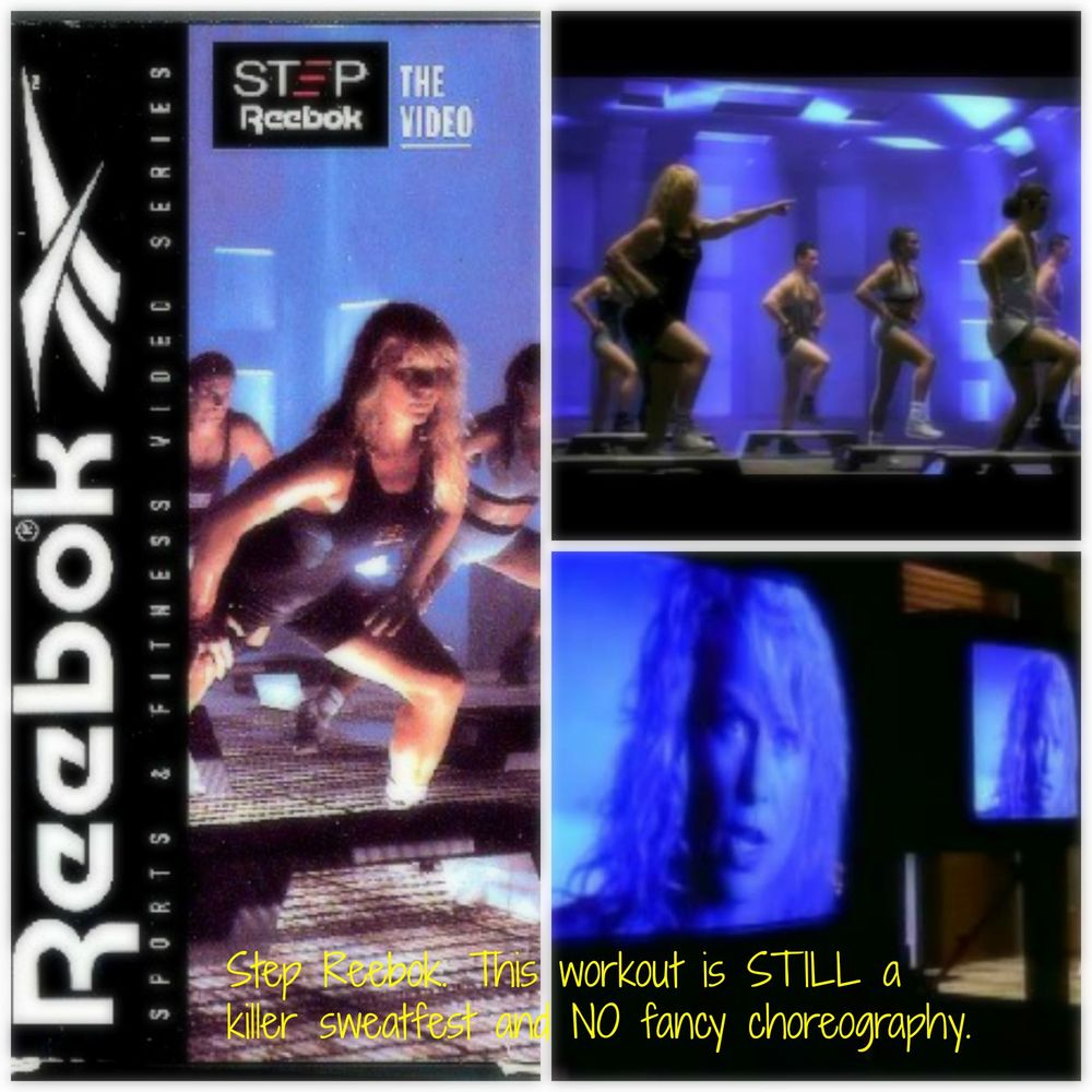 Step Reebok- for the non-skilled in choreography- it's a GREAT workout! Seriously.