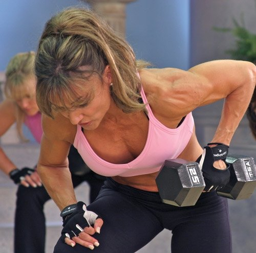 Cathe Friedrich. I can recommend EVERY SINGLE ONE OF HER WORKOUTS- test it out- and thank me later. SHE IS THE BOMB- all advanced, no beginner workouts here!