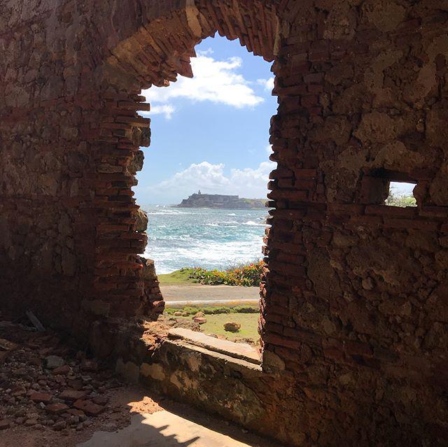 El Morro Fort in San Juan, Puerto Rico, seen across San Juan Bay, from Isla de Cabras, Cataño. #puertorico #inspiration #beach #isladecabras #sanjuan #ocean