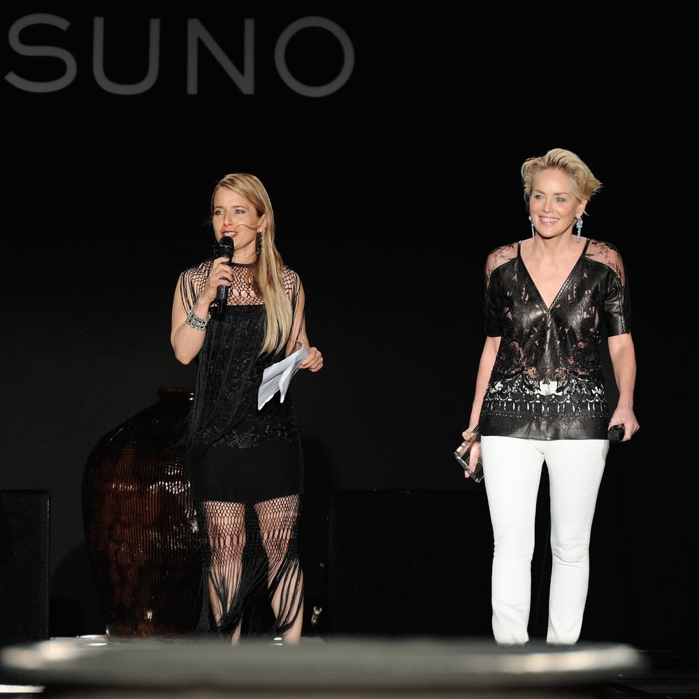 Tammy Apostol alongside Sharon Stone at FGI Planet Hope Awards (Photo Credit: rhk)