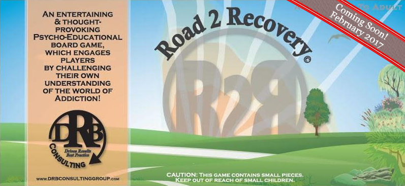 "$39.95 Ready for Pre-Order in january 2017. Available for purchase February 2017. ""Road 2 Recovery"" ""Road 2 Recovery"" is an entertaining and thought-provoking Psycho-Educational board game, which engages players by challenging their own understanding of the world of Addiction! This board game serves as an ENTERTAINING EDUCATIONAL TOOL WHICH ENCOURAGES INDIVIDUALS TO OPENLY DISCUSS ADDICTIONS OF ALL TYPES.  R.2.R. can also be an added aid in multiple arenas.  It is an excellent aid in individual and group therapeutic processes., as well as a fun way to explore the harmful effects of addictions while in the comforts of home!"