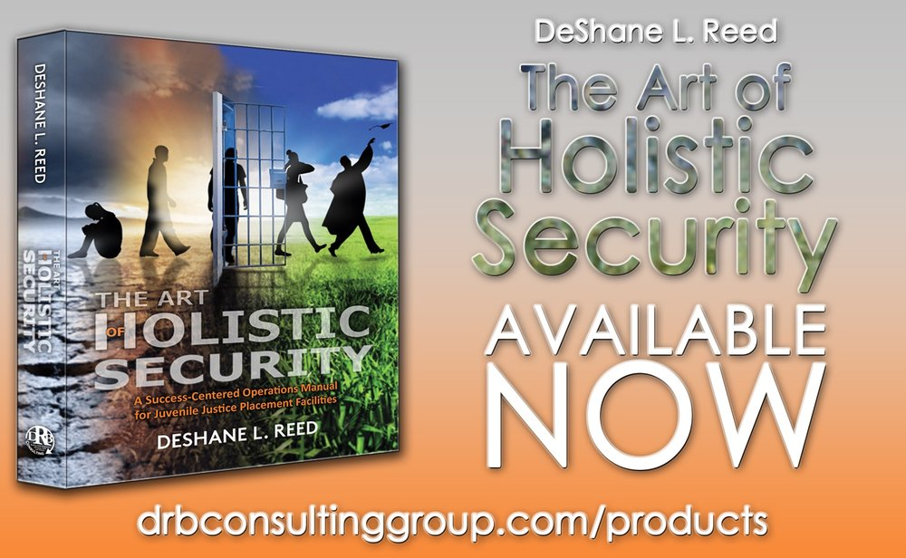 """$22.50  Available now FOR PURCHASE exclusively at this website! PLEAse allow 5-7 days from purchase date for arrival! """"The art of holistic security"""" (ISBN: 978-0-692-76449-7) the art of holistic security is A comprehensive operations manual commissioned to improve the quality of life and living conditions of youth placed in juvenile justice facilities. a.o.h.s. is aimed at addressing the issues that arise and resonate within these controlled and secured residential settings, by offering experiential and results-based approaches. Through dissecting and re-thinking the foundational functions of all juvenile justice institutions, a.o.h.s. re-packages each function using easy-to-apply methodology to ensure safety and security."""