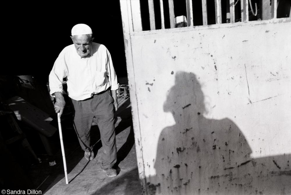 Self with Blind Man, Izmir, Turkey