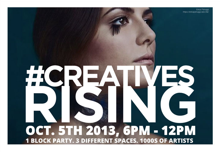 #CreativesRising art event presented by See.Me