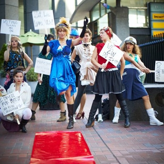 Election Day Fashion Flash Mob