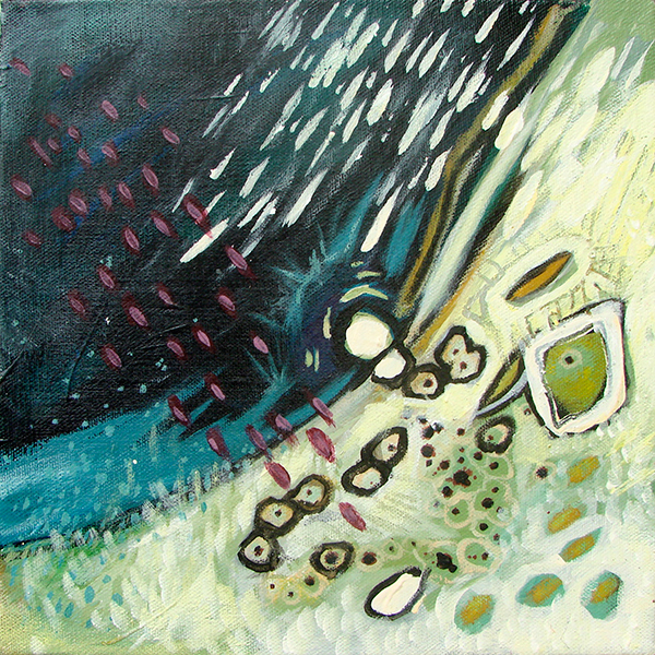 "10"" x 10""        SOLD   Mixed Media on Canvas"