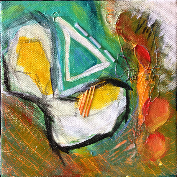 "6"" x 6""        FOR SALE   Mixed Media on Canvas"
