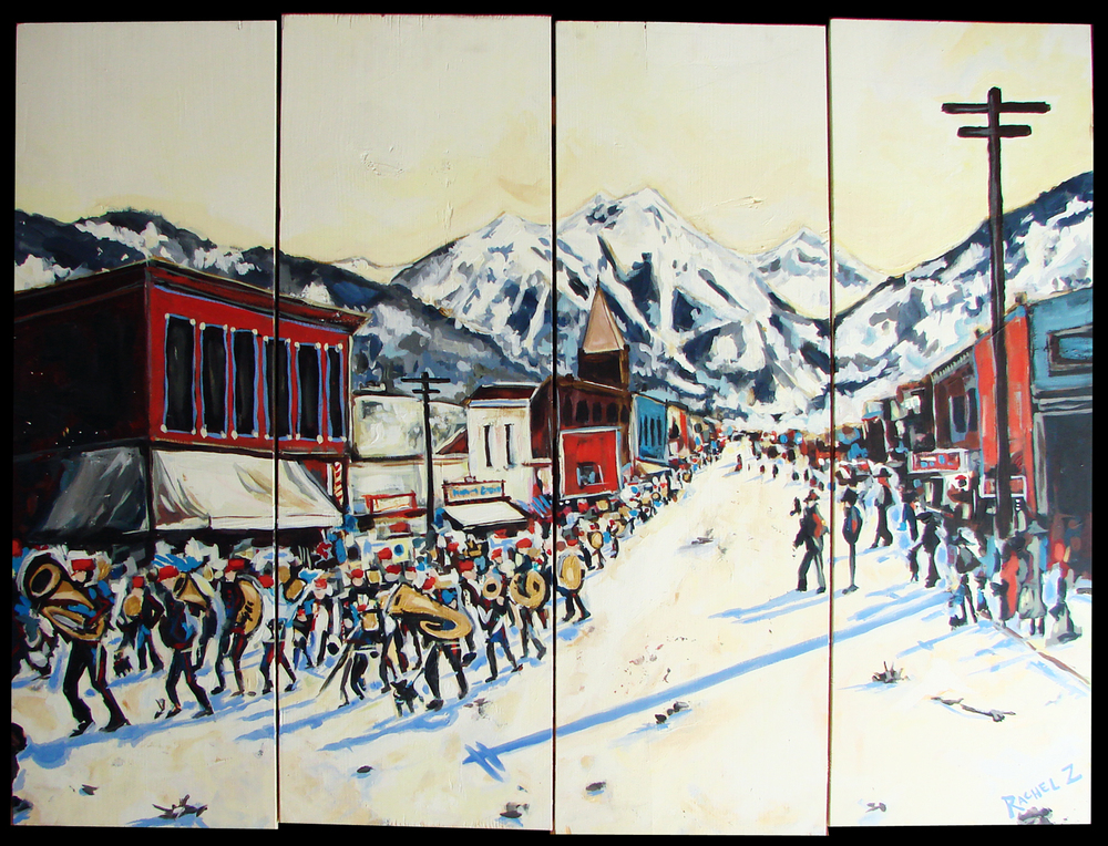 1900 New Years Parade, Telluride