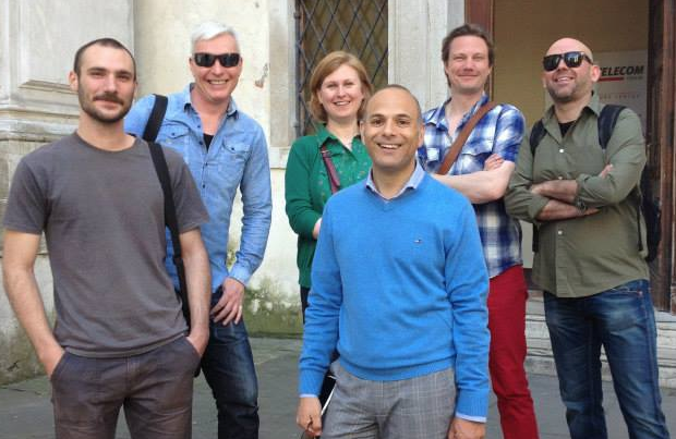 UrbanIxD project team, from left: Oleg Suran (Split), Michael Smyth, Ingi Helgason (Edinburgh Napier), Gianluca Zaffiro (Telecom Italia), Martin Brynskov (Aarhus), Ivica Mitrovic (Split).
