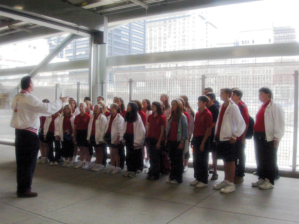 Choir at Ground Zero, WTC Path Station, New York City