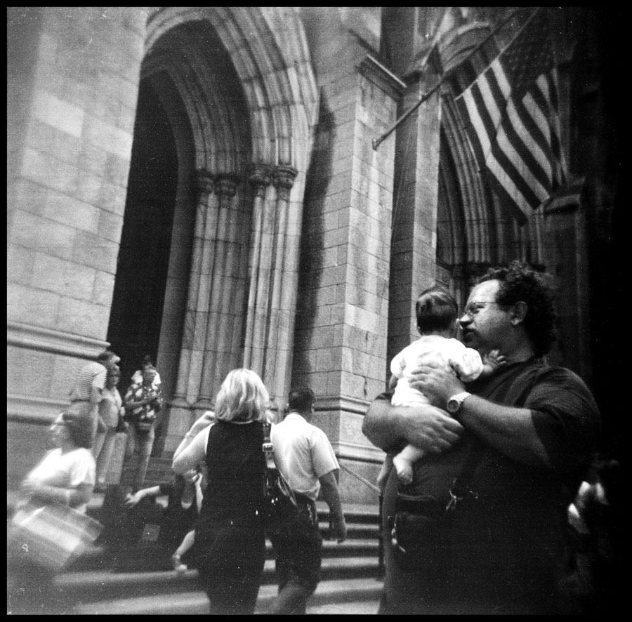 The Tourists at St. Bartholomew's Church, Park Avenue, New York City