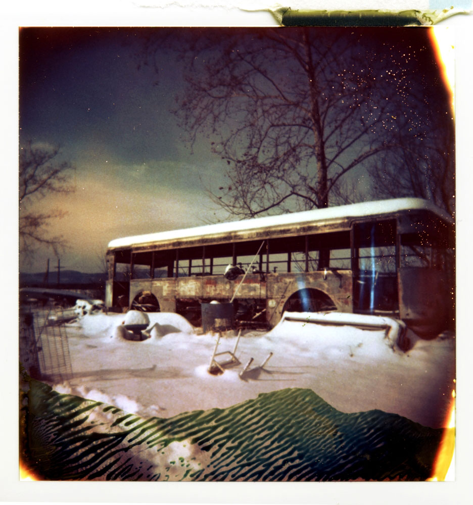 Abandoned Bus, Roeliff Jansen Kill, Germantown, NY
