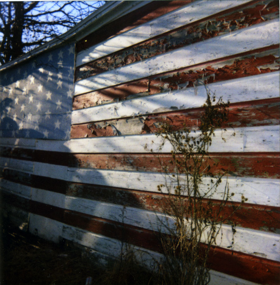 Faded American Flag, Hudson New York
