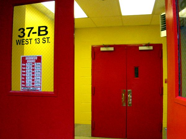 Colour: Red Doors, Yellow Hall  West Village, New York City