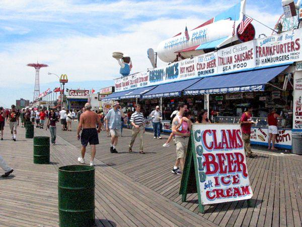 Food: Clams, Beer and Ice Cream Coney Island, New York
