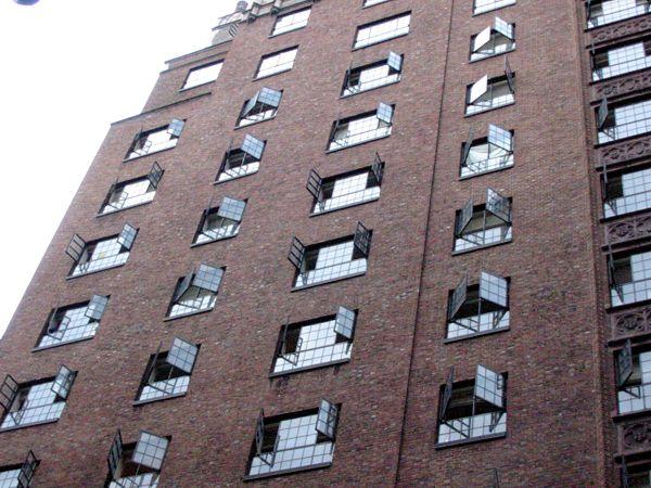 Symmetry: Hot Day West Village, New York City