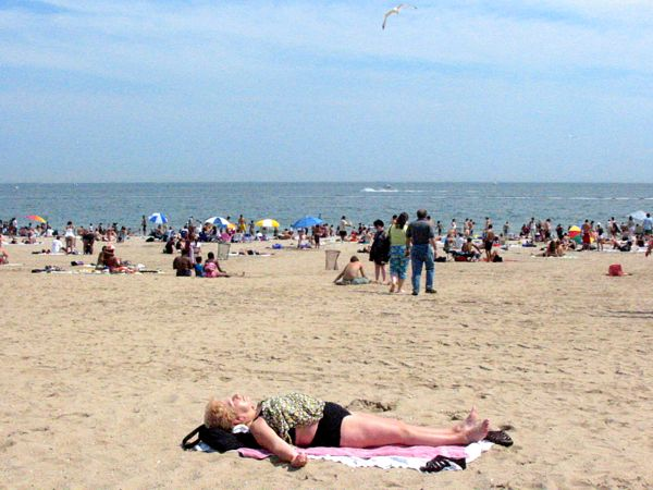 Weather: Beach Tan Coney Island, New York City