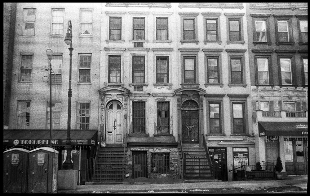 Row Houses on E. 86th Street, New York NY camera: Smena Symbol
