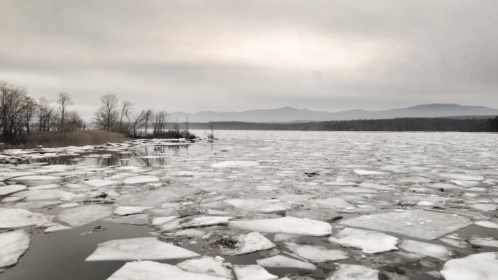 The Hudson River | just outside of Hudson NY